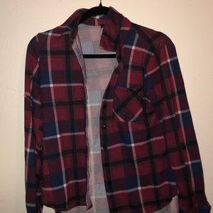 Maroon/Red flannel